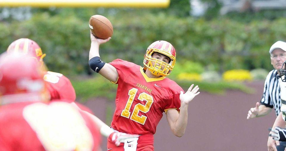 Chaminade quarterback John O'Krepkie passes during a CHSFL