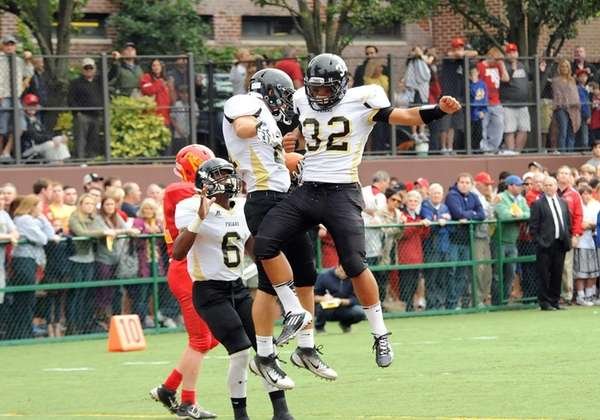 St. Anthony's Anthony Anderson, right, celebrates with Anthony