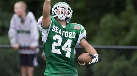 Seaford's Nick Fischetti celebrates in the end zone