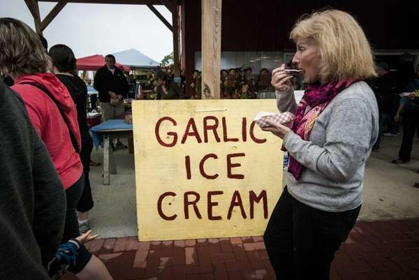 Garlic ice cream is among the delicacies offered