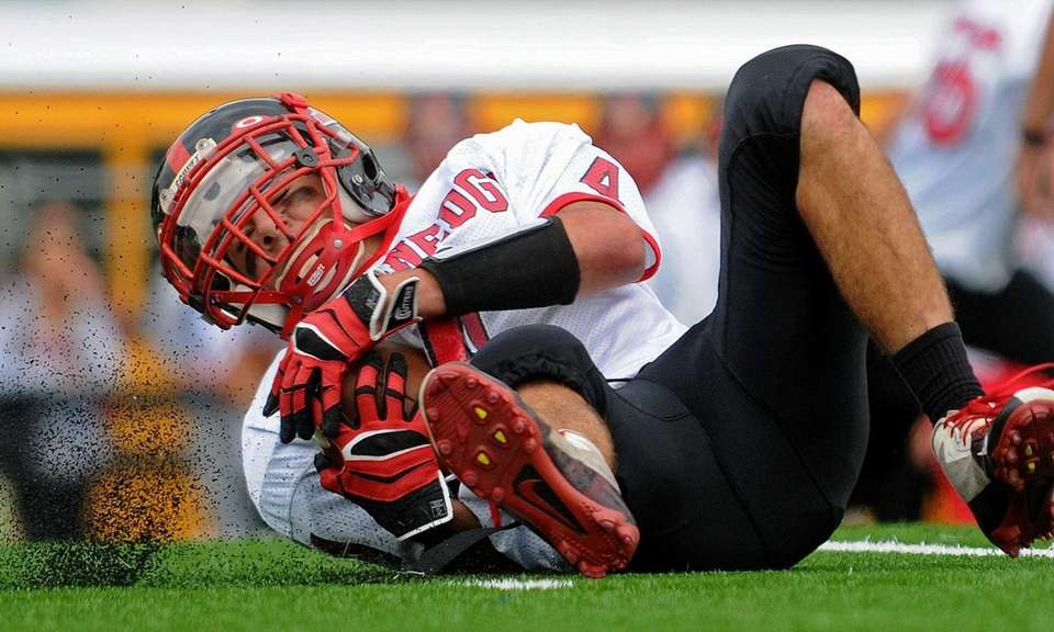 Plainedge wide receiver Nick Cupolo unearths a portion