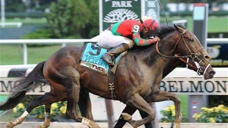 This photo released by the New York Racing