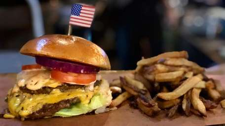 The all-American burger at Publicans, which has reopened