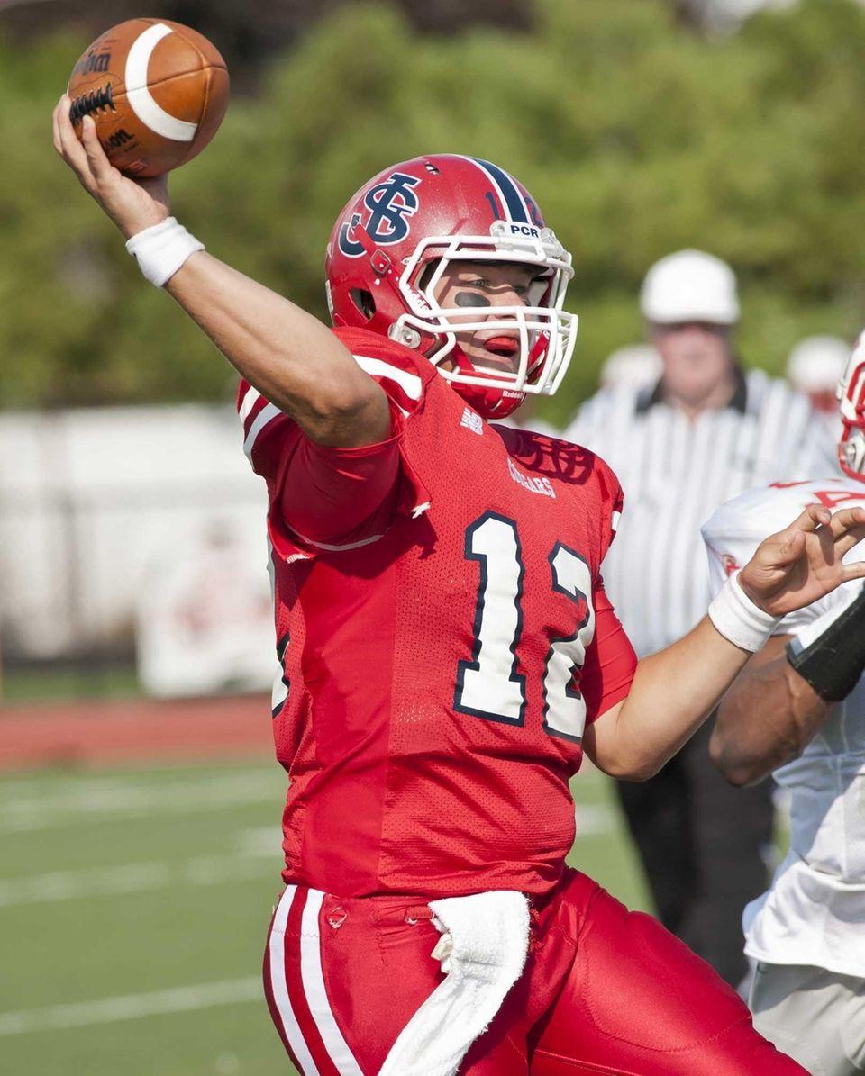 St. John The Baptist quarterback Gregory Egan (12)