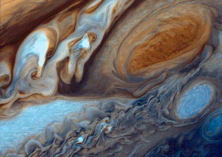 Jupiter's Great Red Spot, a storm 2-3 times