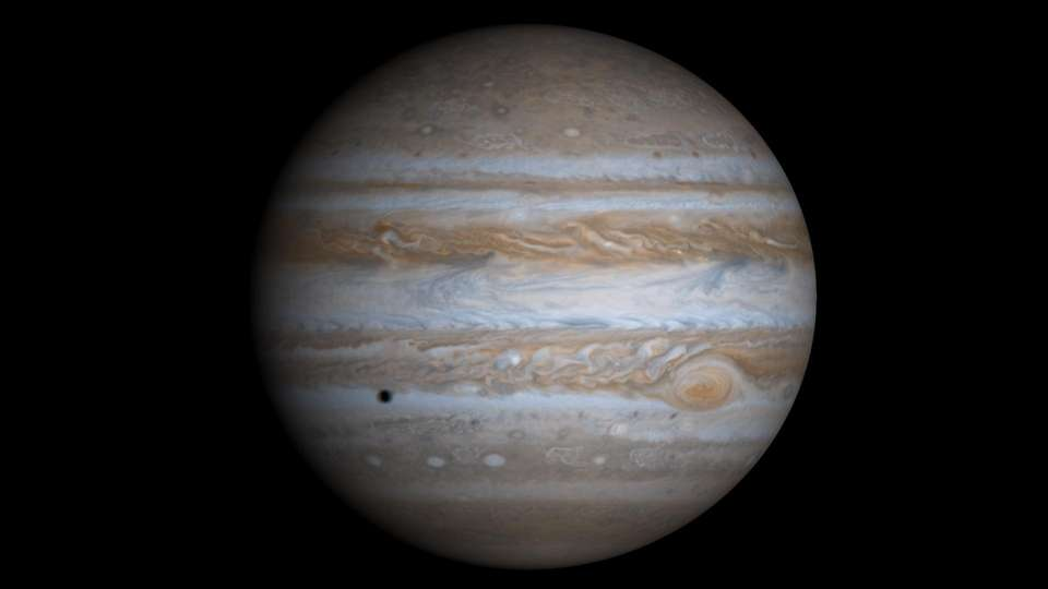 Jupiter, the largest planet in the solar system