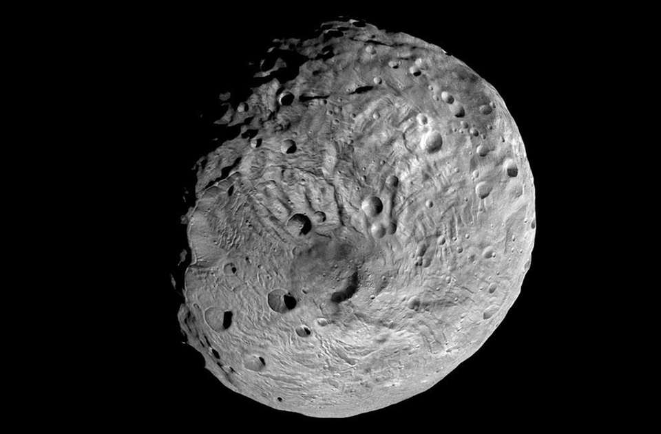 An undated image of the asteroid Vesta taken