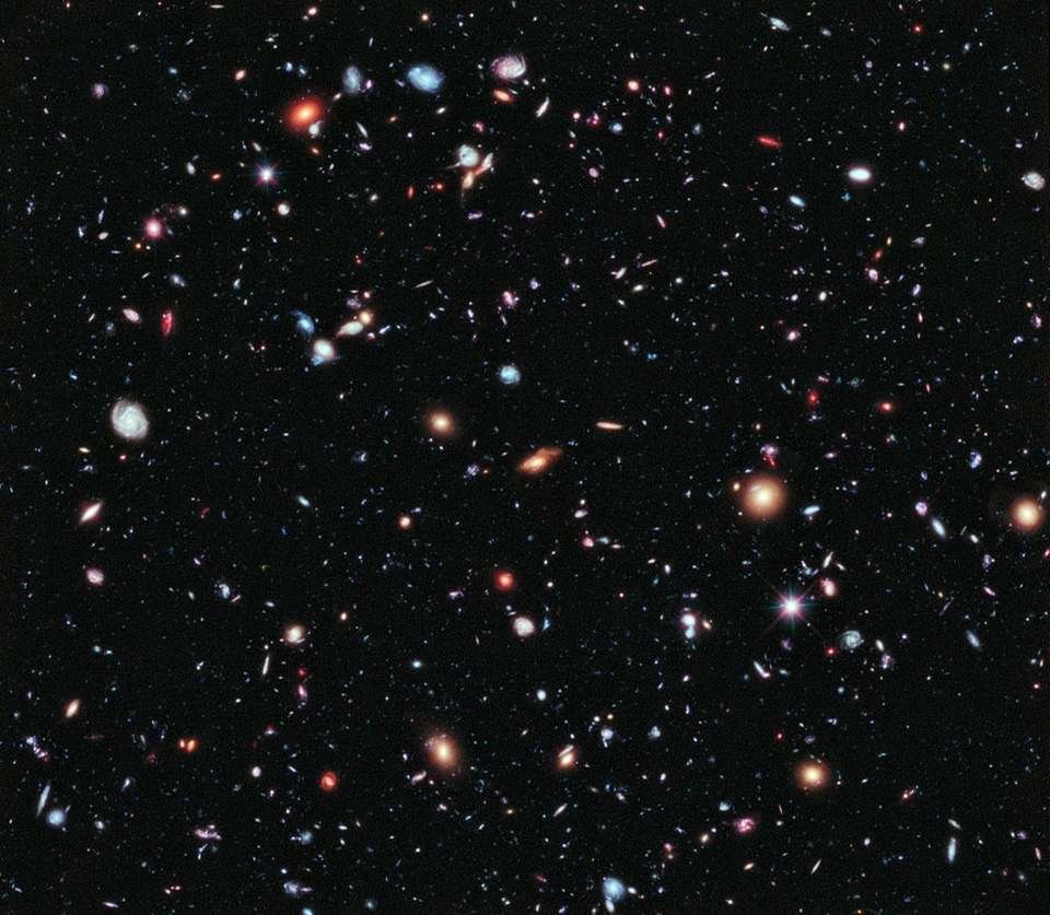 The Hubble eXtreme Deep Field image is the