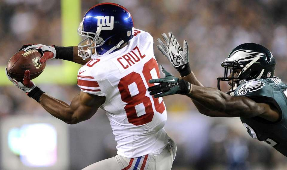 Giants wide receiver Victor Cruz (80) makes a