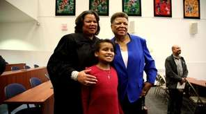 Victoria Gumbs-Moore is sworn in Monday as the