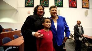 Victoria Gumbs-Moore is sworn in Monday as the