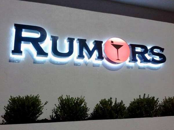 The sign for Rumors nightclub in West Hempstead.
