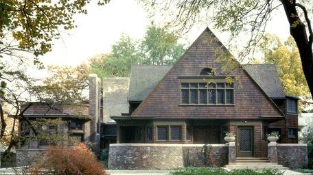 Frank Lloyd Wright home and studio in Oak