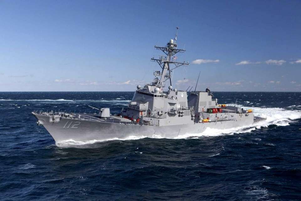 The USS Michael Murphy sails in the Atlantic