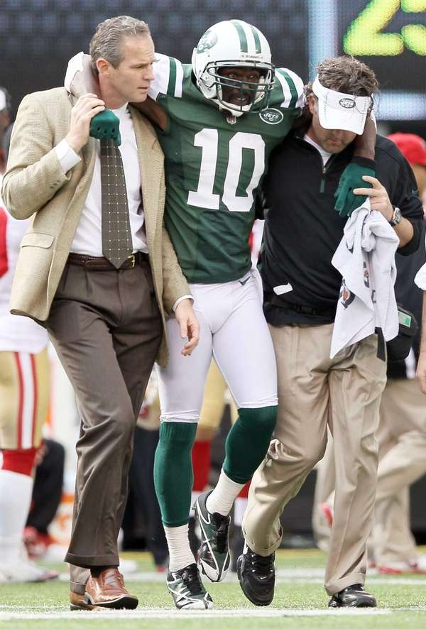 New York Jets Santonio Holmes out with Lisfranc injury