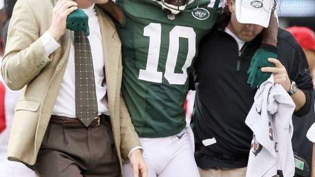 Santonio Holmes of the New York Jets is