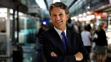 Rick Lazio poses at Chelsea Market in the