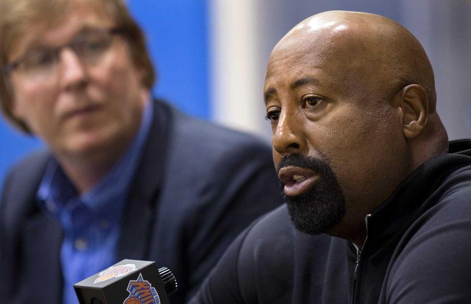 New York Knicks head coach Mike Woodson answers