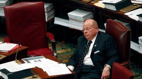 Sen. Carl Kruger, D-Brooklyn, in the Senate Chamber