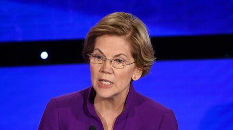 Sen. Elizabeth Warren at the Democratic presidential primary