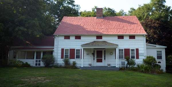 The Noah Hallock house is the oldest house