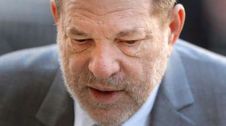 Harvey Weinstein arrives for jury selection in his