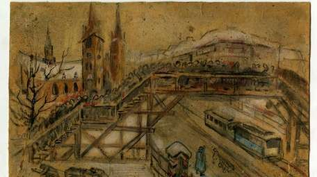 """Lodz Ghetto Bridge"" by Vincent Brauner."