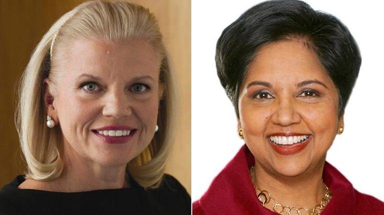 IBM chief executive Ginni Rometty, left, and PepsiCo.'s