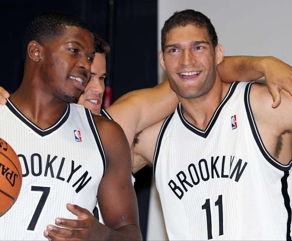 From left: Joe Johnson, Kris Humphries and Brook