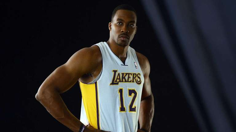 Dwight Howard of the Los Angeles Lakers in