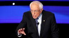 Democratic presidential candidate Sen. Bernie Sanders, I-Vt., speaks
