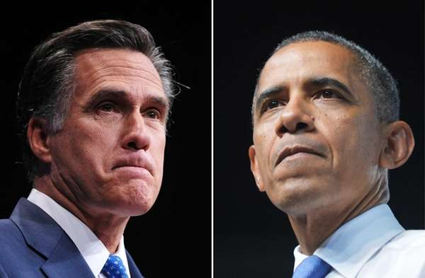 This combination of file photos shows Republican presidential