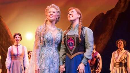 Caissie Levy, left, as Elsa, and Patti Murin