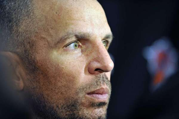 Jason Kidd of the Knicks talks to reporters