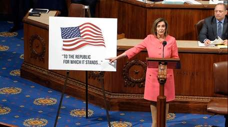 In this image from video, House Speaker Nancy