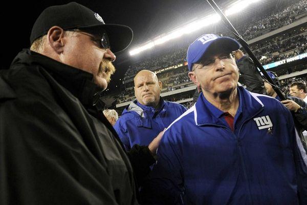 Philadelphia Eagles head coach Andy Reid, left, and