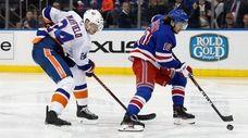 Artemi Panarin of the New York Rangers breaks