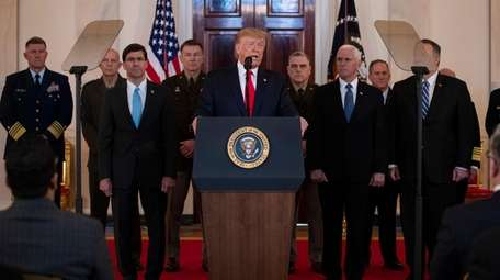 President Donald Trump addresses the nation from the
