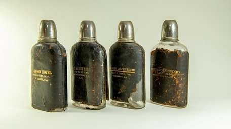 Leather on flasks was popular in the late