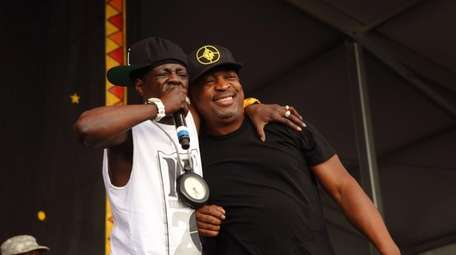 Flavor Flav, left, and Chuck D of Public