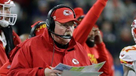 Kansas City Chiefs head coach Andy Reid works