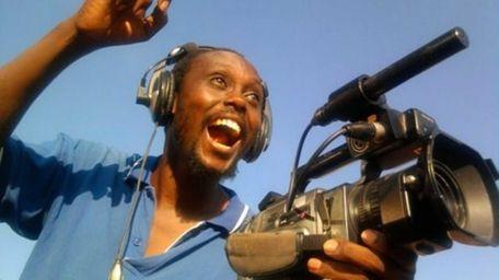 Director Isaac Godfrey Geoffrey Nabwana shoots action films