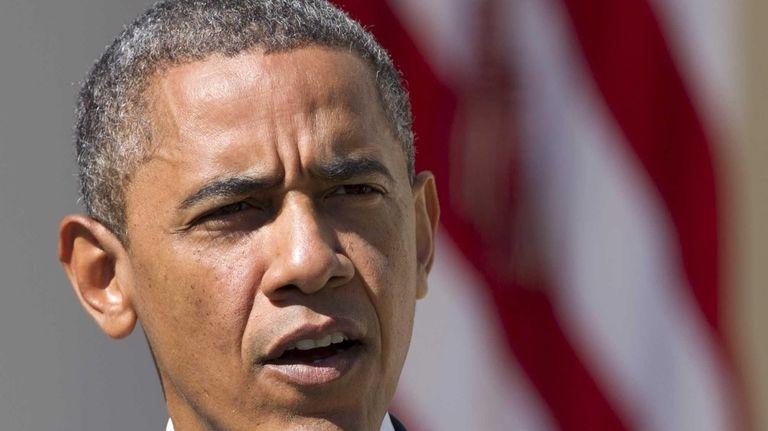 President Barack Obama speaks in the Rose Garden