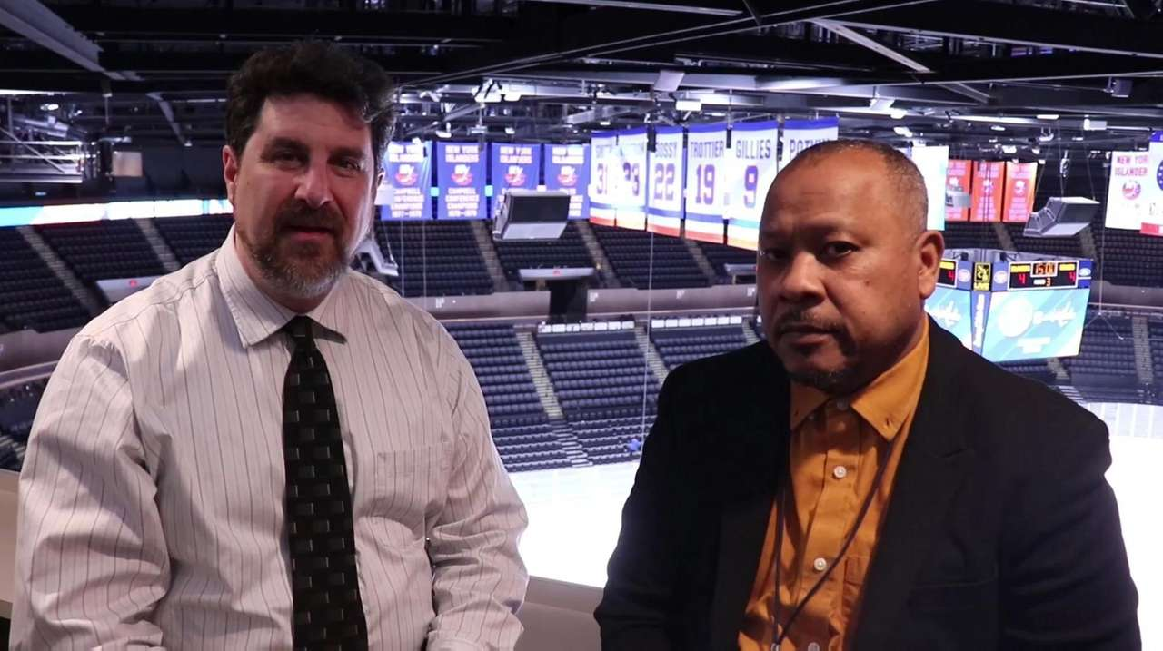 Newsday's Islanders beat writer Andrew Gross and Rangers