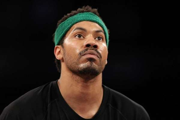 Rasheed Wallace of the Boston Celtics warms up