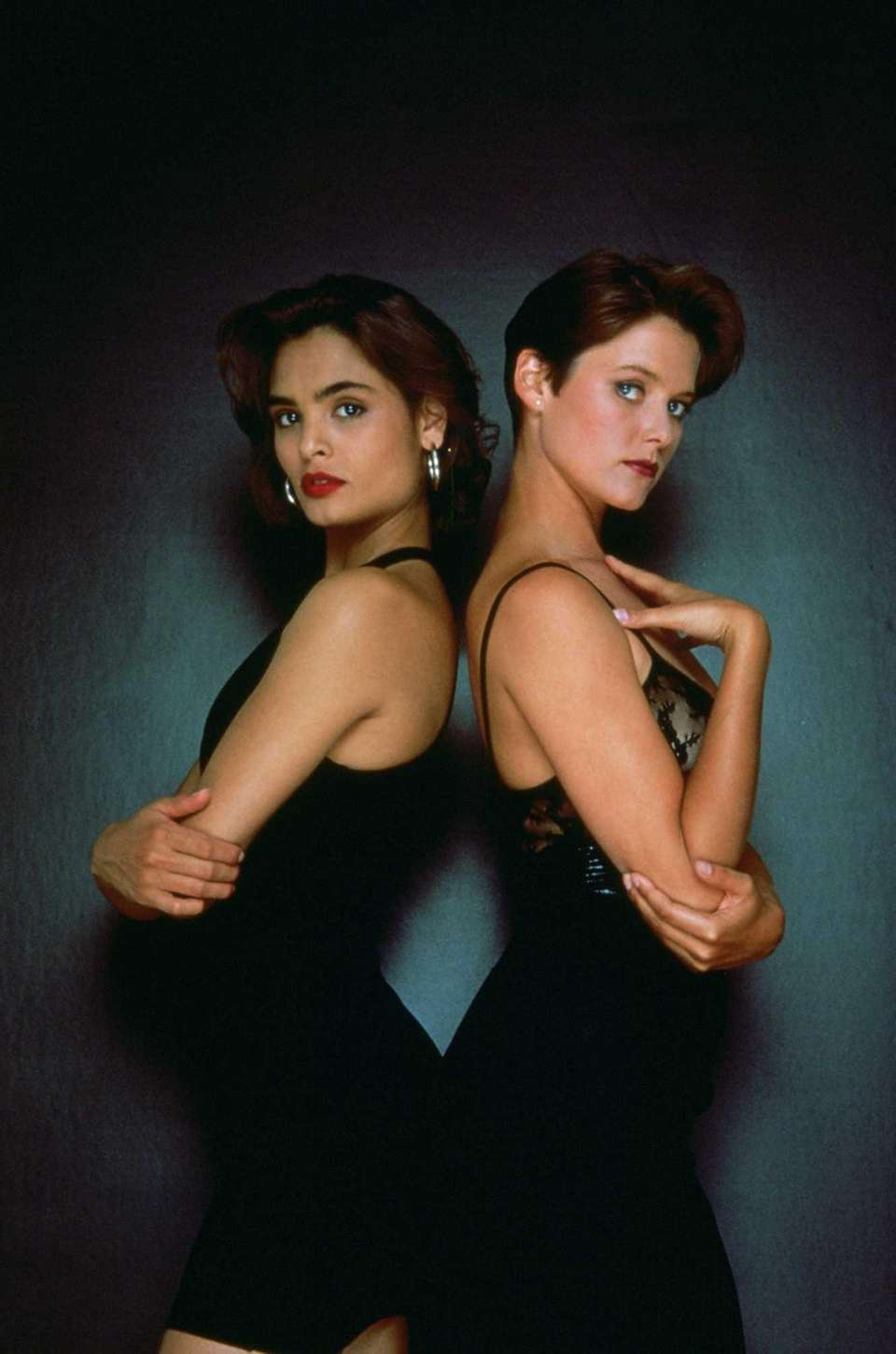 Talisa Soto, left, and Carey Lowell are seen