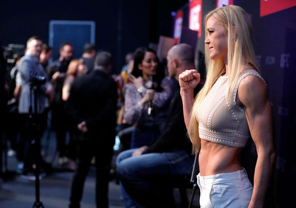Bantamweight fighter Holly Holm poses during the UFC