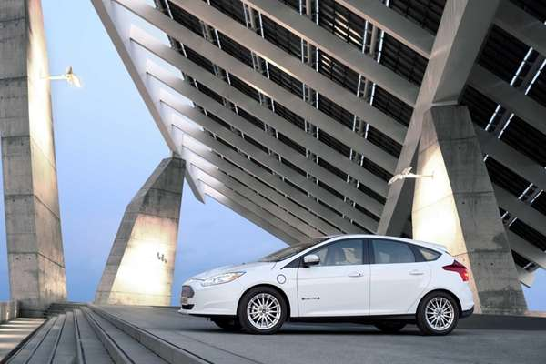 The 2012 Ford Focus Electric, which starts at