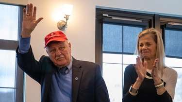 Sen. Kenneth LaValle with his wife, Penny LaValle,