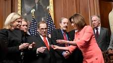 House Speaker Nancy Pelosi of Calif., second from